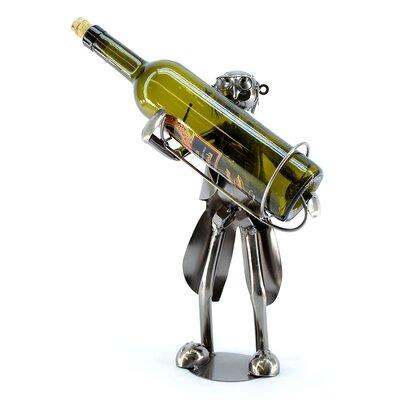 Old Waiter 1 Bottle Tabletop Wine Rack
