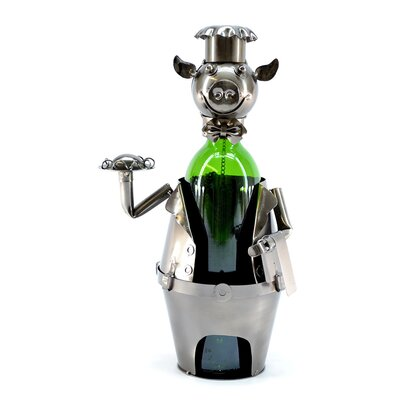 Pig Waiter 1 Bottle Tabletop Wine Rack