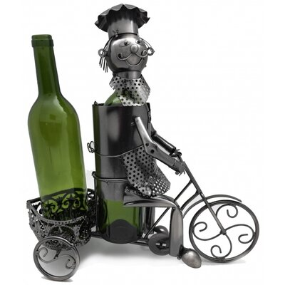 Trycicle Rider 2 Bottle Tabletop Wine Rack