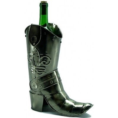 Cowboy Boot 1 Bottle Tabletop Wine Rack