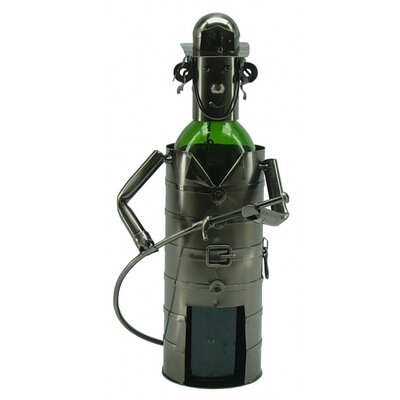 Fireman 1 Bottle Tabletop Wine Rack