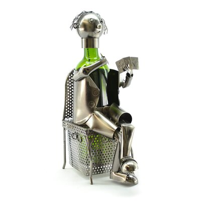 Card Player 1 Bottle Tabletop Wine Rack