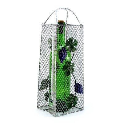 Gift Bag, Grapes 1 Bottle Tabletop Wine Rack