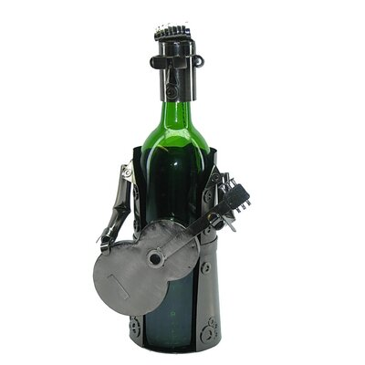 Elvis Playing Guitar 1 Bottle Tabletop Wine Rack