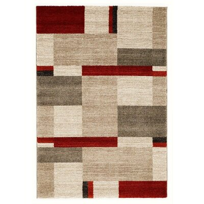 Rhyne Beige/Red Area Rug