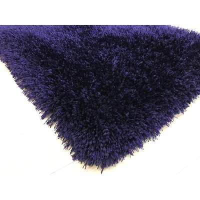 Heineman Solid Shag Hand-Tufted Purple Area Rug