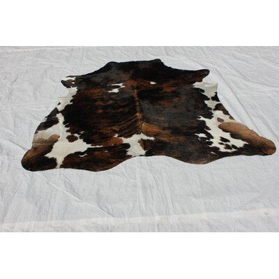 Tourelle Hand-Woven Cowhide Black/Brown Area Rug