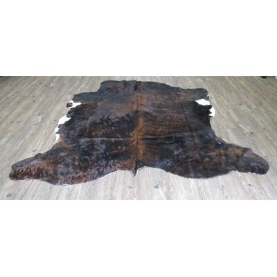 Waltham Hand-Woven Cowhide Brindle Black/Brown Area Rug