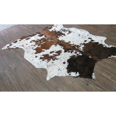 Whitman Hand-Woven Cowhide Brown/White Area Rug
