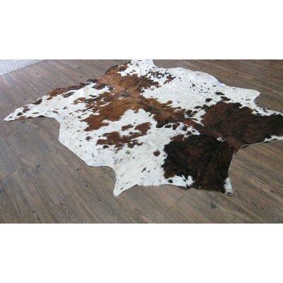 Whitman Hand-Woven Cowhide Brown/White Area Rug