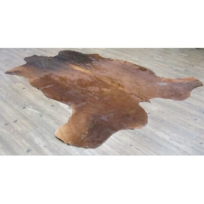 Willy Hand-Woven Cowhide Brown/Black Area Rug