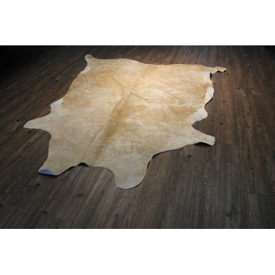Ashton Ridge Hand-Woven Cowhide Beige Area Rug
