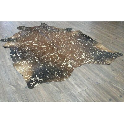 Shery Hand-Woven Cowhide Brown/Black Area Rug