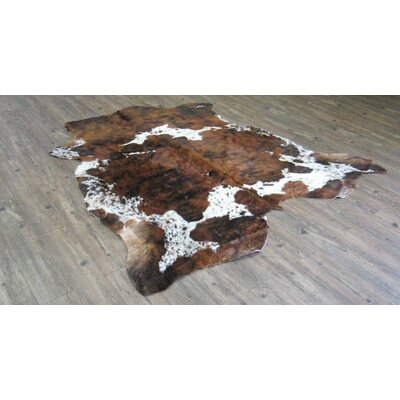 Tolland Hand-Woven Cowhide Brown Area Rug