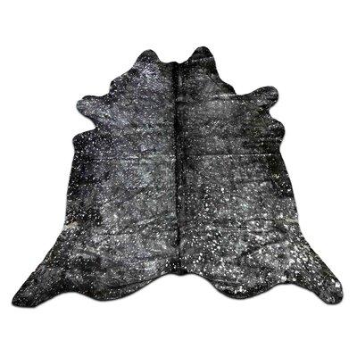 Roberto Hand Woven Cowhide Silver/Black Area Rug