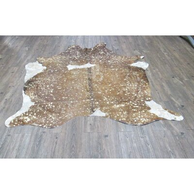 Broadmeade Hand Woven Cowhide Camel Area Rug