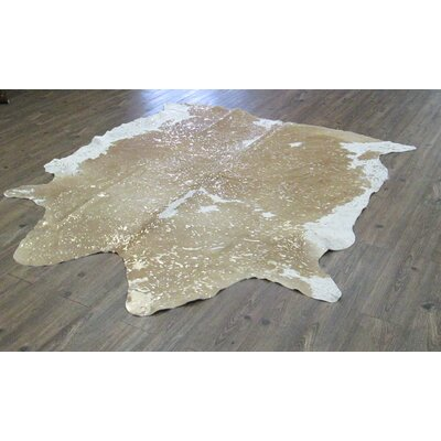 Broadmeade Hand Woven Cowhide Light Camel Area Rug