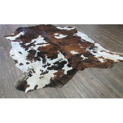 Lynnfield Hand Woven Cowhide Brown/White Area Rug