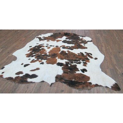 Vidal Hand-Woven Cowhide Brown/White Area Rug