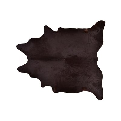 Askew Hand-Woven Cowhide Brown Area Rug