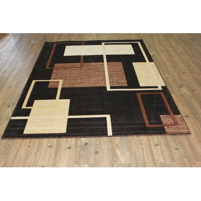 Smither Contemporary Black Area Rug
