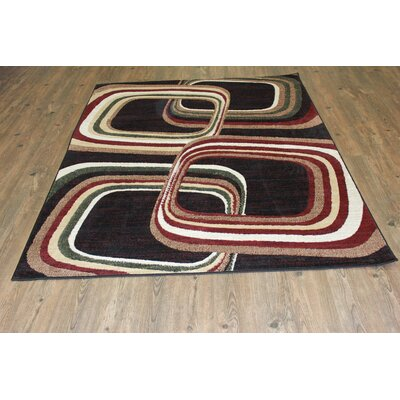 Quinten Black/Red Area Rug