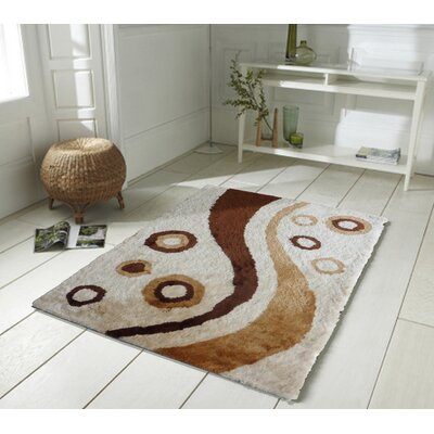 San Michele Hand Tufted Beige Area Rug