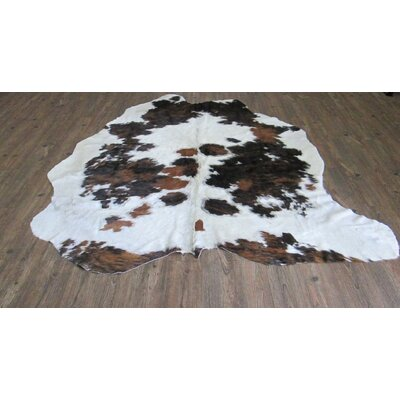 Verlaine Hand-Woven Cowhide White/Black Area Rug