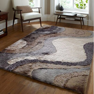 Straley Hand-Woven Gray/Beige Area Rug