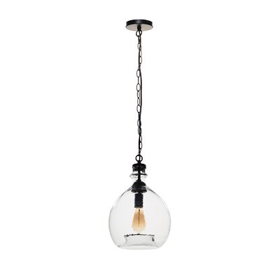 Castillon 1-Light Globe Pendant Shade Color: Clear, Size: 20.66 H x 12.99 W x 12.99 D