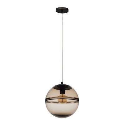 Cepheus 1-Light Globe Pendant Shade Color: Light Brown
