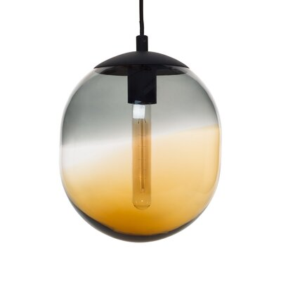 Cerberus 1-Light Globe Pendant Shade Color: Gray/Amber