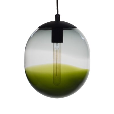 Cerberus 1-Light Globe Pendant Shade Color: Gray/Olive
