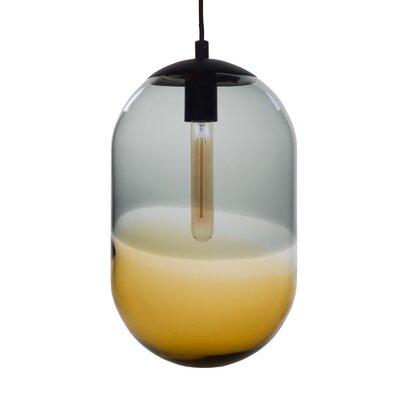 Cerberus 1-Light Mini Pendant Shade Color: Gray/Amber