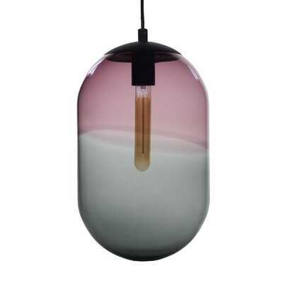 Cerberus 1-Light Mini Pendant Shade Color: Violet/Gray