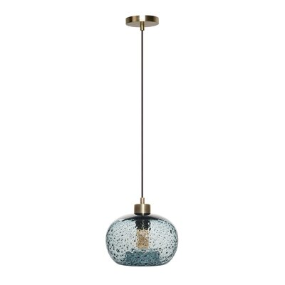 Cerna 1-Light Mini Pendant Shade Color: Light Blue