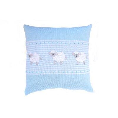 Shay Baby Sheep 100% Cotton Throw Pillow Color: Blue