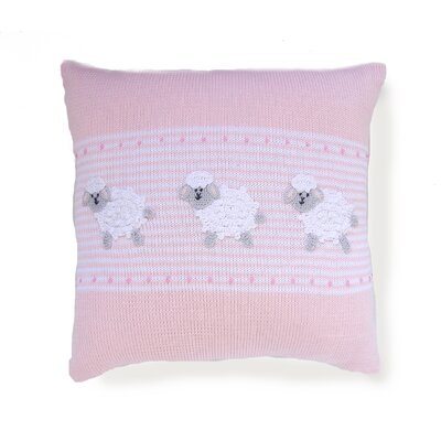 Shay Baby Sheep 100% Cotton Throw Pillow Color: Pink