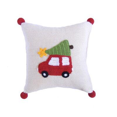Car 100% Cotton Throw Pillow