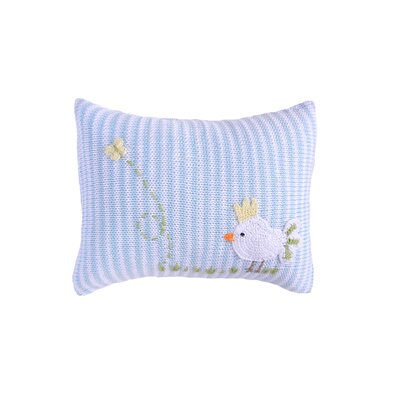 Sheedy Mini Baby Bird 100% Cotton Throw Pillow Color: Blue