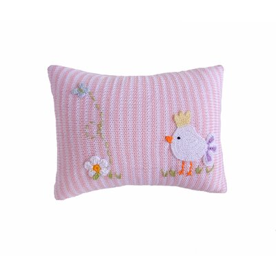 Sheedy Mini Baby Bird 100% Cotton Throw Pillow Color: Pink