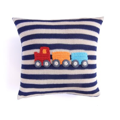 Sheehy Train 100% Cotton Throw Pillow
