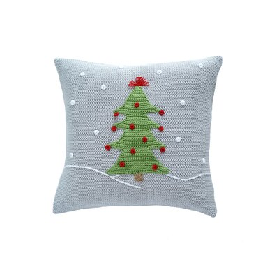Christmas Tree Snow 100% Cotton Throw Pillow