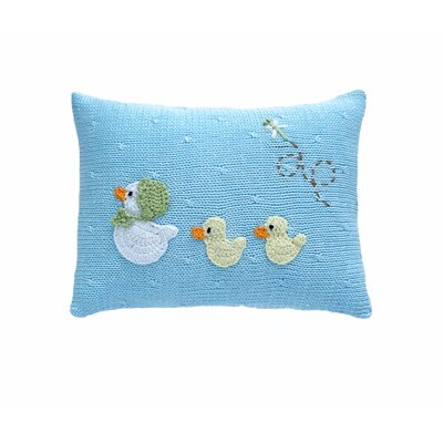 Sheepshead Bay Baby Duck 100% Cotton Pillow Color: Blue, Size: 12 H x 12 W x 4 D