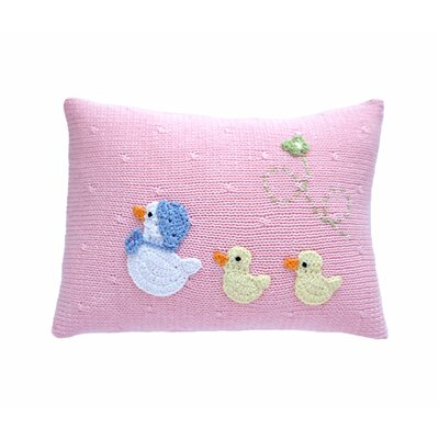 Sheepshead Bay Baby Duck 100% Cotton Pillow Color: Pink, Size: 7 H x 9 W x 4 D