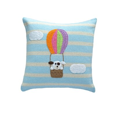 Sheeran Dog in Balloon 100% Cotton Throw Pillow