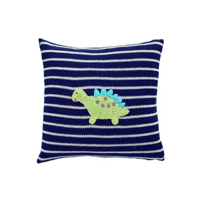 Stark Dinosaur Square 100% Cotton Throw Pillow