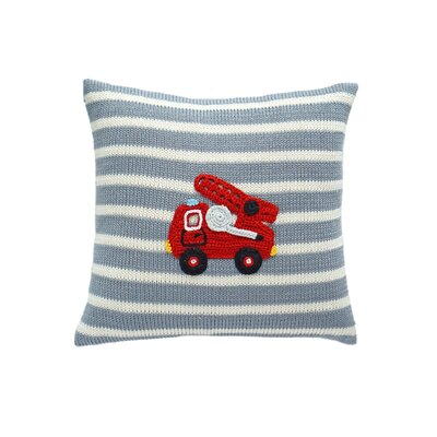 Summers Fire Truck 100% Cotton Throw Pillow