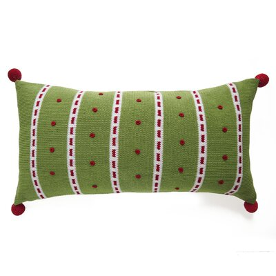 Dot Stripe Christmas 100% Cotton Lumbar Pillow