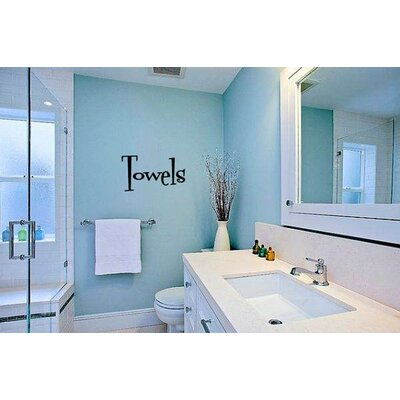 Oakton Towels Bathroom Vinyl Graphic Word Wall Decal